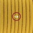 Napájecí kabel pro stolní lampu, RC31 Medový bavlněný 1,80 m. Vyberte si barvu zástrčky a vypínače.