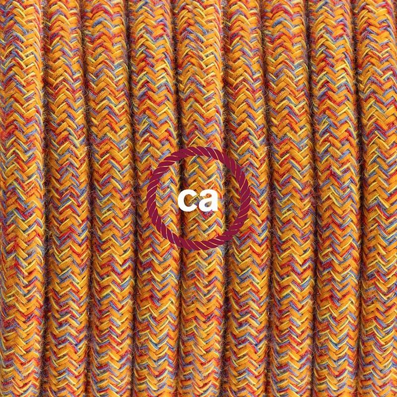 Napájecí kabel pro stolní lampu, RX07 Indiánské léto bavlněný 1,80 m. Vyberte si barvu zástrčky a vypínače.