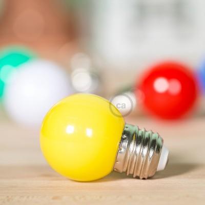Dekorativní G45 Miniglóbusová LED žárovka 1W E27 2700K - žlutá