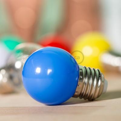 Dekorativní G45 Miniglóbusová LED žárovka 1W E27 2700K - modrá