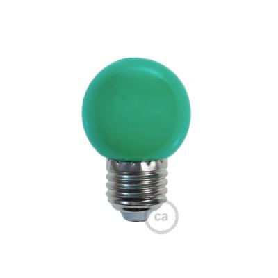 Dekorativní G45 Miniglóbusová LED žárovka 1W E27 2700K - zelená