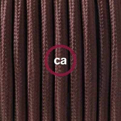Porcelánové závěsné svítidlo s hnědým hedvábným textilním kabelem RM13