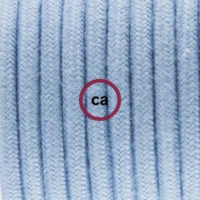 """Porcelánové závěsné svítidlo s bavlněným textilním kabelem barvy """"oceán"""" RC53"""