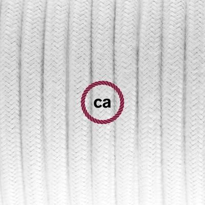 Porcelánové závěsné svítidlo s bílým bavlněným textilním kabelem RC01