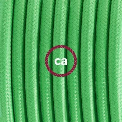 Porcelánové závěsné svítidlo s limetkovým hedvábným textilním kabelem RM18