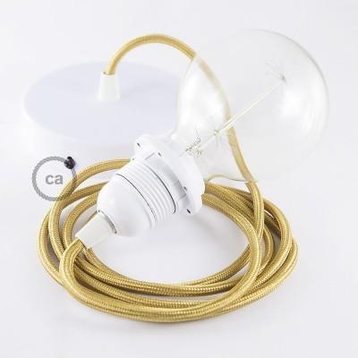 Závěsné sviítidlo pro stínidla se zlatým hedvábným textilním kabelem RM05