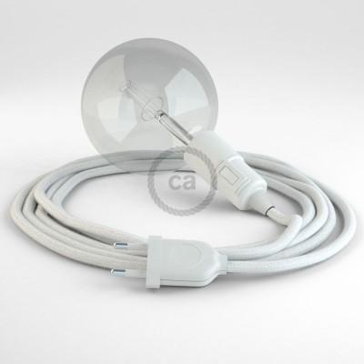 Navrhněte si vlastní RC01 Bílé bavlněné svítidlo Snake a přineste si světlo kamkoli chcete.