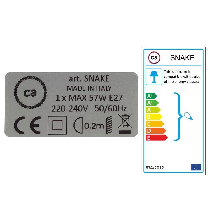 Navrhněte si vlastní RC63 Šedo - zelené bavlněné svítidlo Snake a přineste si světlo kamkoli chcete.
