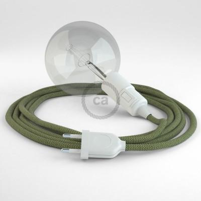 Navrhněte si vlastní RD72 Cik-Cak Pruhované tymiánovo-zelené svítidlo Snake a přineste si světlo kamkoli chcete.