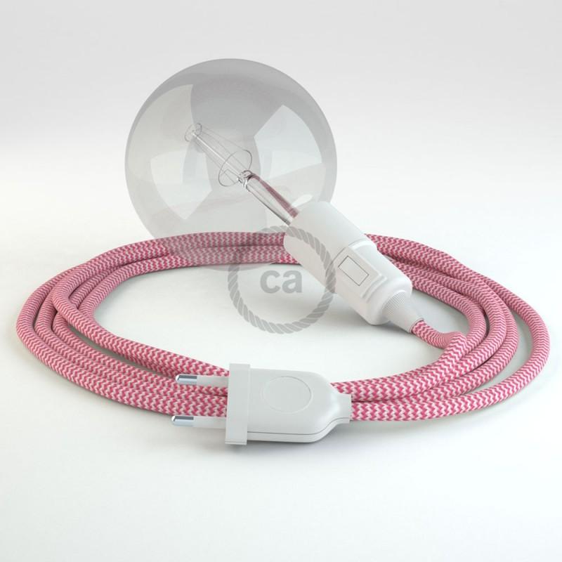 Navrhněte si vlastní RZ08 Cik-Cak Fuchsia svítidlo Snake a přineste si světlo kamkoli chcete.