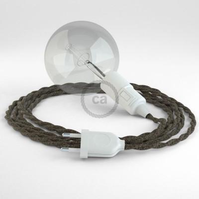 Navrhněte si vlastní TN04 Hnědé přírodní lněné svítidlo Snake a přineste si světlo kamkoli chcete.