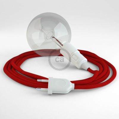 Navrhněte si vlastní RC35 Ohnivě - Červené bavlněné svítidlo Snake a přineste si světlo kamkoli chcete.