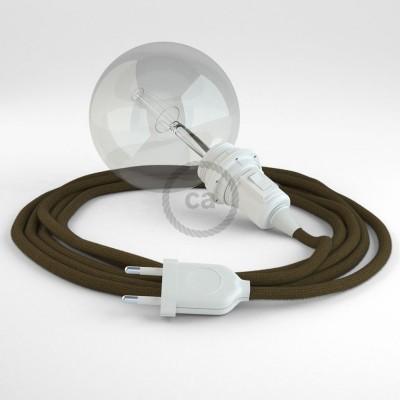 Navrhněte si vlastní RC13 Hnědé bavlněné svítidlo Snake pro stínidlo a přineste si světlo kamkoli chcete.