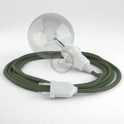Navrhněte si vlastní RC63 Šedo - zelené bavlněné svítidlo Snake pro stínidlo a přineste si světlo kamkoli chcete.