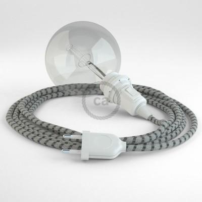 Navrhněte si vlastní RD54 Pruhované antracitové svítidlo Snake pro stínidlo a přineste si světlo kamkoli chcete.