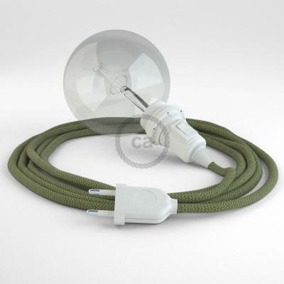 Navrhněte si vlastní RD72 Cik-Cak Pruhované tymiánovo-zelené svítidlo Snake pro stínidlo a přineste si světlo kamkoli chcete.