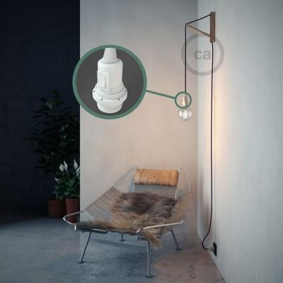 Navrhněte si vlastní RM14 Fialové hedvábní svítidlo Snake pro stínidlo a přineste si světlo kamkoli chcete.