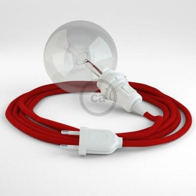 Navrhněte si vlastní RC35 Ohnivě - Červené bavlněné svítidlo Snake pro stínidlo a přineste si světlo kamkoli chcete.
