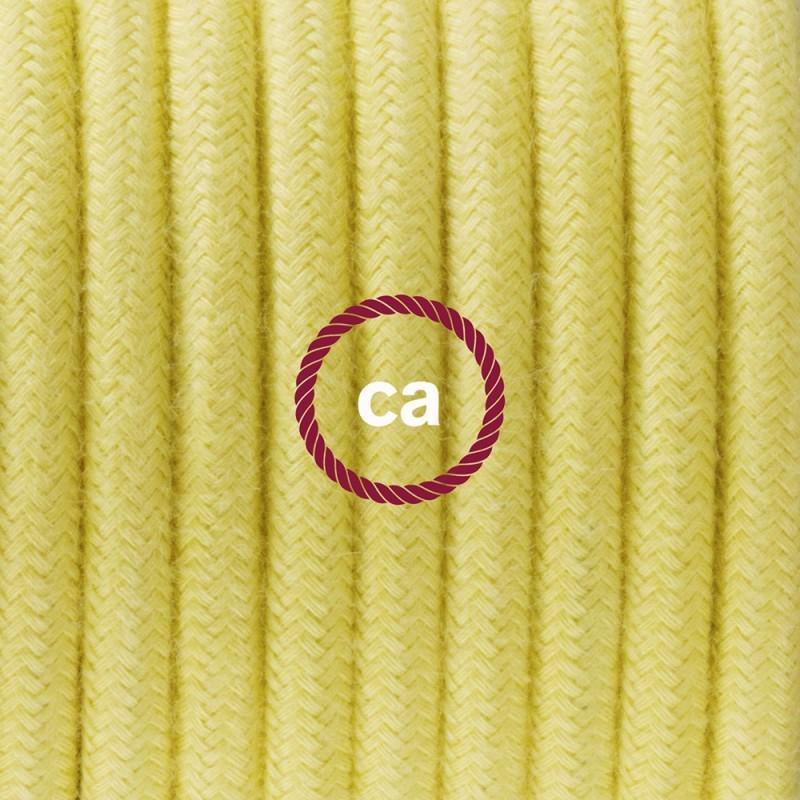SnakeBis - napájecí textilní kabel s objímkou - Světle žlutý bavlněný RC10