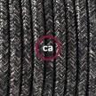 SnakeBis - napájecí textilní kabel s objímkou - Antracitový lněný RN03