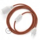 SnakeBis - napájecí textilní kabel s objímkou - Indian Summer bavlněný RX07