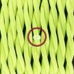SnakeBis - napájecí textilní kabel s objímkou - Neonový žlutý hedvábní TF10