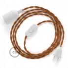 SnakeBis - napájecí textilní kabel s objímkou - Whisky hedvábní TM22