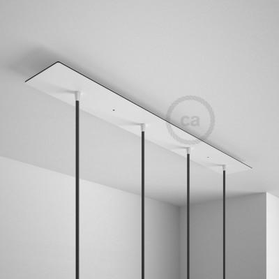 Obdélníkový 90x12 cm XXL stropní baldachýn se 4 otvory + příslušenství