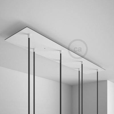 Obdélníkový 90x20 cm XXL stropní baldachýn se 7 otvory + příslušenství