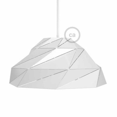 Bílé lesklé stínidlo Nuvola s E27 objímkou