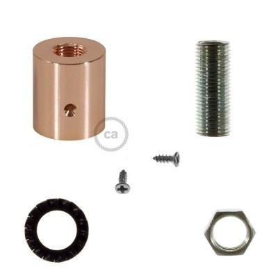 Měděná kovová koncovka pro 16 mm trubice Creative-Tube, s příslušenstvím