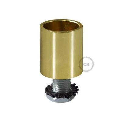 Mosazná kovová koncovka pro 16 mm trubice Creative-Tube, s příslušenstvím