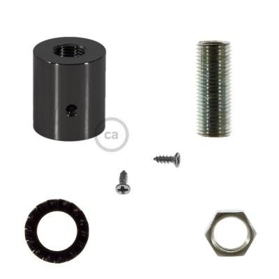 Černá perleťová kovová koncovka pro 16 mm trubice Creative-Tube, s příslušenstvím