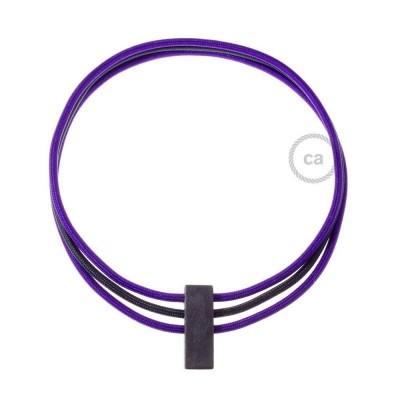 Kruhový náhrdelník s barvami: fialová RM14 a černá RM04.