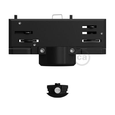 Eutrac černý závěsný adaptér pro kolejnicové konzoly s 3 - fázovým obvodem