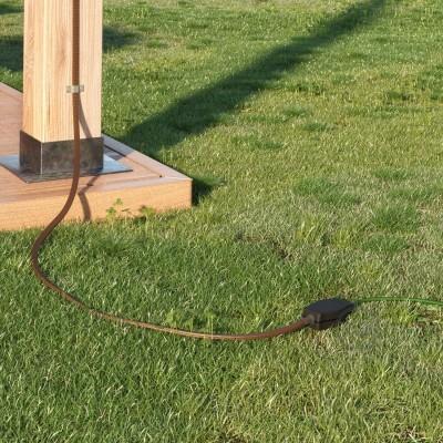 Kabelová spojka pro světlené řetězy s adaptéry pro kulaté a ploché kabely