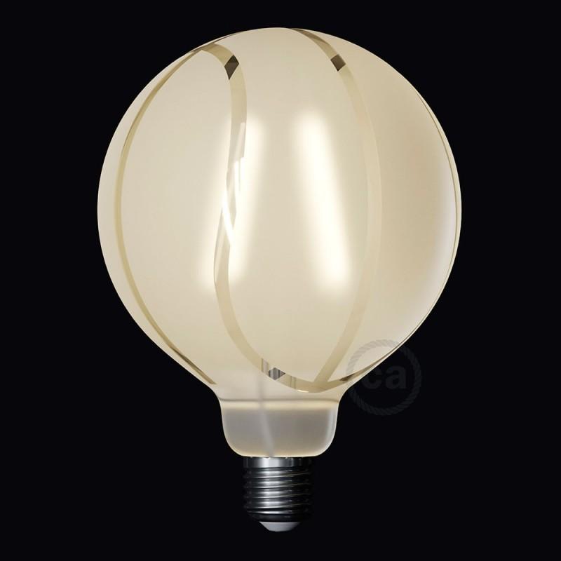 LED žárovka Glóbus G125 se spirálovým vláknem - Tattoo Lamp® Basket 4W E27 2700K