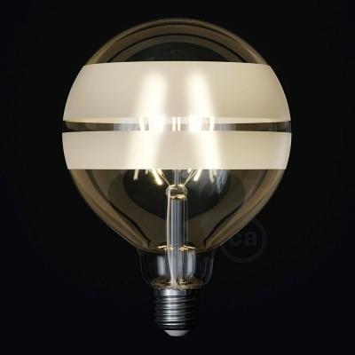 LED žárovka Glóbus G125 se spirálovým vláknem - Tattoo Lamp® Saturn 4W E27 2700K
