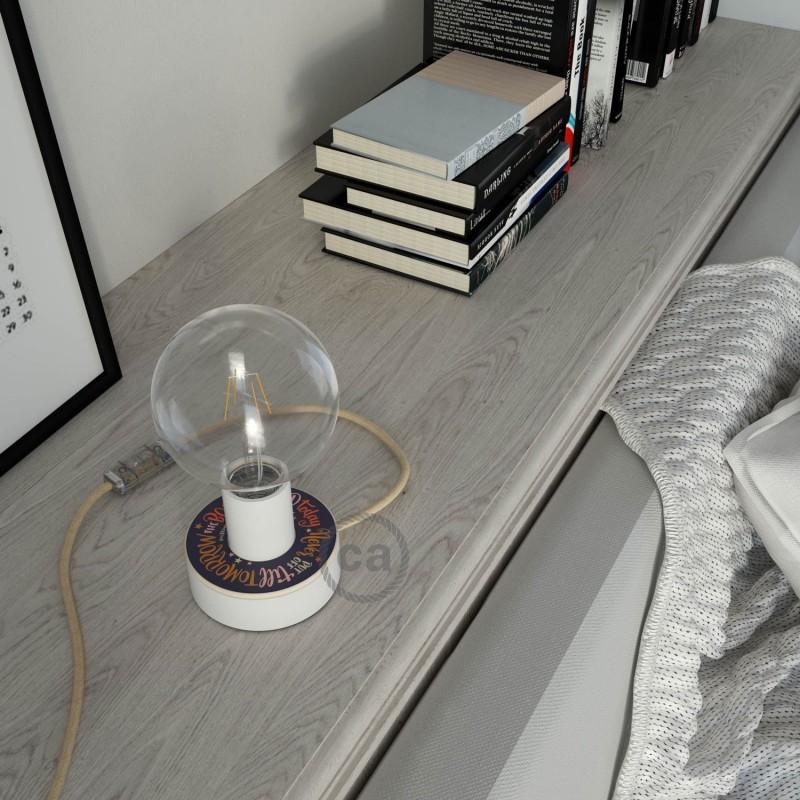 MINI-UFO oboustranný dřevěný minidisk z kolekce Pemberley Pond s motivem AUSTEN+JACKSON