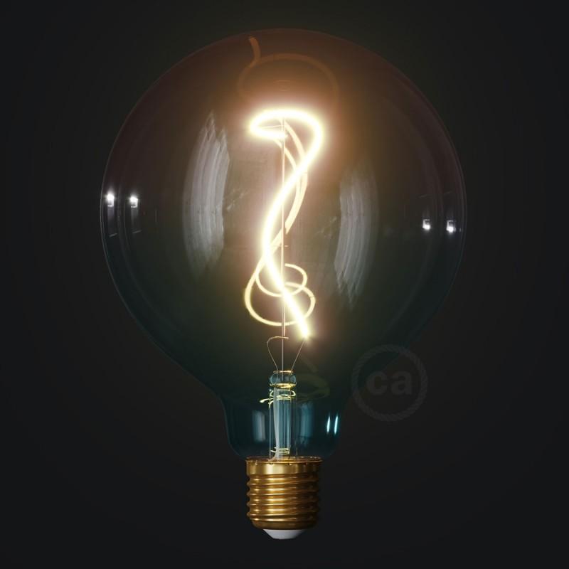 LED žárovka G125 barevná kombinace sen (Dream), kolekce Pastel, popínavé vlákno 4W E27 Stmívatelná 2200K