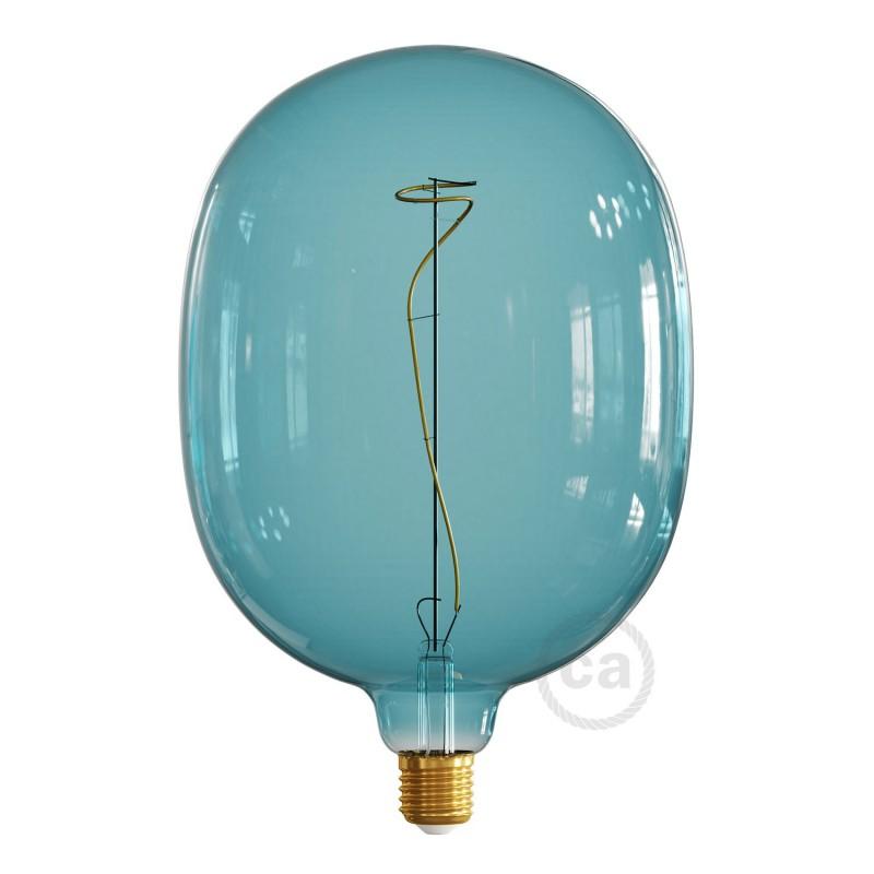 LED žárovka Egg barvy oceánu (Ocean Blue), kolekce Pastel, popínavé vlákno 4W E27 Stmívatelná 2200K