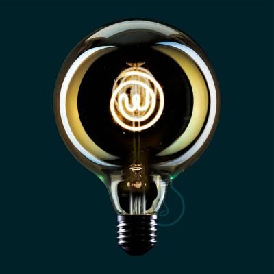 LED žárovka Glóbus G125 z řady Masterchef s tematickým logem - 4W E27, stmívatelná 2000K