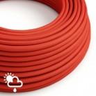 Exteriérový textilní elektrický kábel, hedváb, SM09 Červená