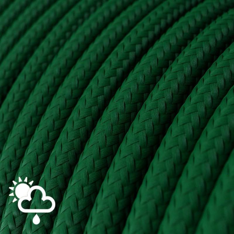 Exteriérový textilní elektrický kábel, hedváb, SM21 Tmavě zelená