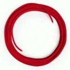 LAN - Síťový textilní kabel - Cat 5e - bez konektoru, umělý hedváb, RM09 Červený