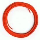 LAN - Síťový textilní kabel - Cat 5e - bez konektoru, umělý hedváb, RF15 neonově oranžový