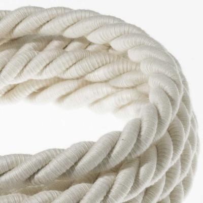 XL Elektrický kabel 3x0,75 potažený bavlnou. Průměr 16 mm.