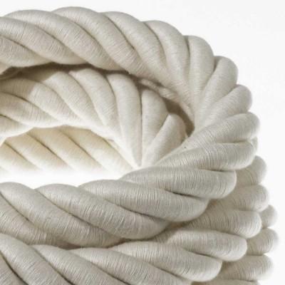 3XL Elektrický kabel 3x0,75 potažený bavlnou. Průměr 30 mm.