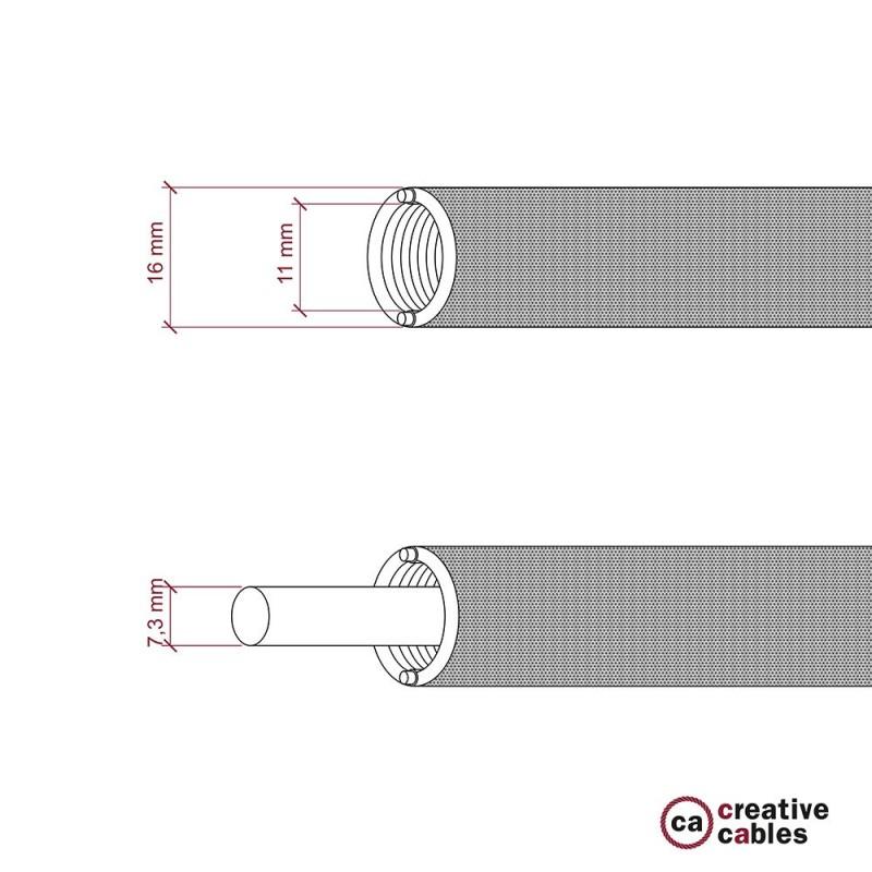 Creative-Tube - ohebná trubice potažená černou hedvábnou tkaninou RM04, průměr 16 mm