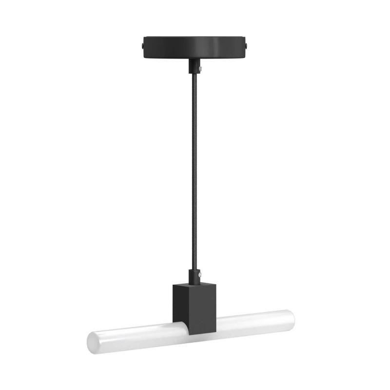 Minimalistická závěsná lampa s objímkou S14d Syntax a černým kabelem RM04